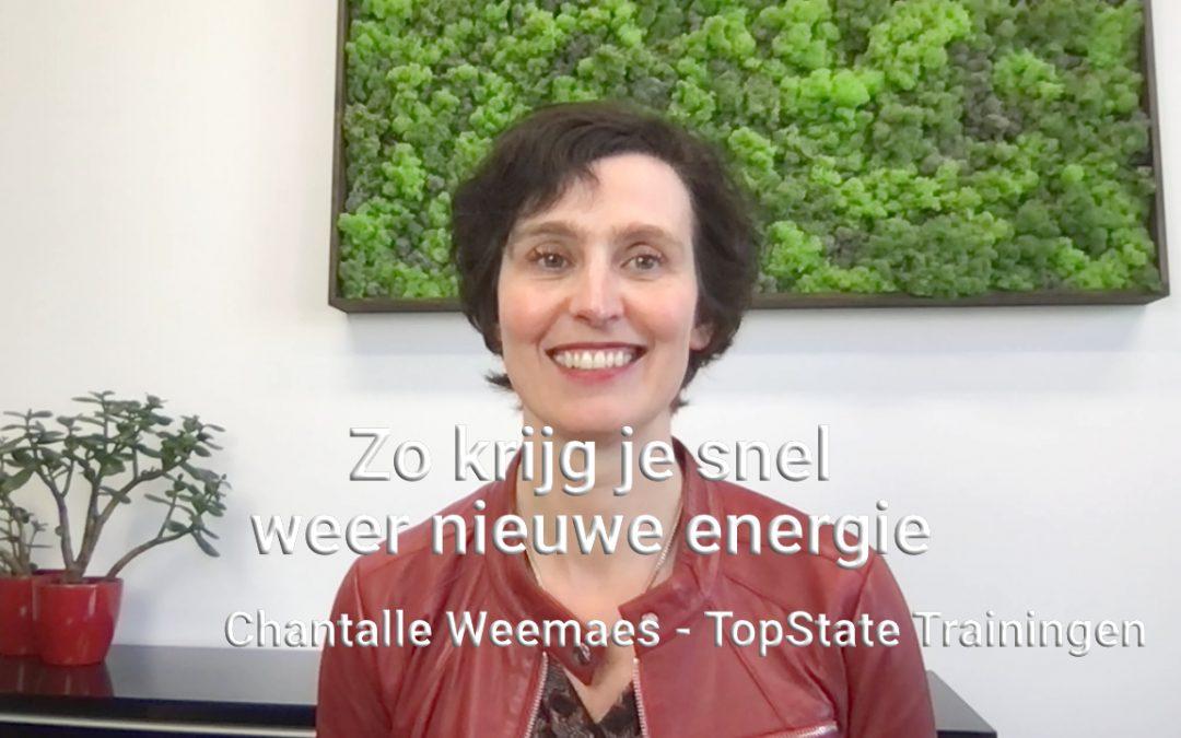 [Vlog] Zo krijg je snel weer nieuwe energie